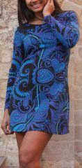 Robe courte à manches longues Ethnique et Colorée Laéna 274925