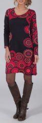 Robe courte à manches longues Ethnique et Colorée Latifa 274941