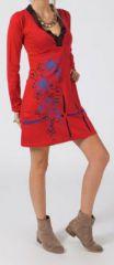 Robe courte � manches longues Ethnique et Color�e Pandora 275130