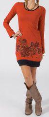 Robe courte � manches longues Ethnique et Color�e Precious 275159