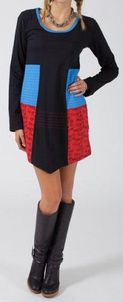 Robe courte à manches longues Ethnique et Colorée Rahma 275202