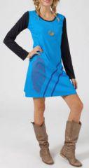 Robe courte � manches longues Ethnique et Color�e Rebeca 275219