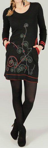 Robe courte à manches longues ethnique et imprimée Daina 273788