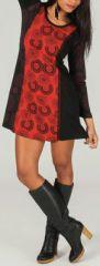 Robe courte à manches longues Ethnique et Imprimée Eliane 274079
