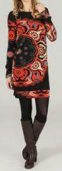 Robe courte � manches longues Ethnique et Imprim�e Ylona 274273