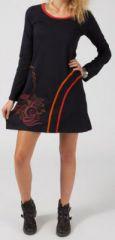Robe courte � manches longues Ethnique et Originale Madina 275035
