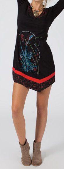Robe courte à manches longues Ethnique et Originale Madlie 275037