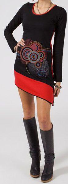 Robe courte à manches longues Ethnique et Originale Maliana 275061