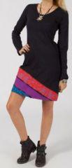 Robe courte � manches longues Ethnique et Originale Pixy 275151
