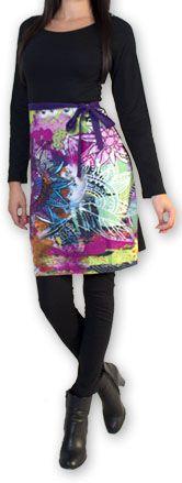 Robe courte à manches longues Imprimée et Colorée Lavandi 274325