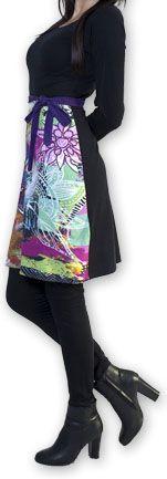 Robe courte à manches longues Imprimée et Colorée Lavandi 274326