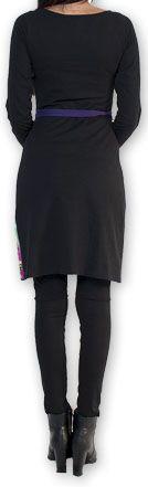 Robe courte à manches longues Imprimée et Colorée Lavandi 274327
