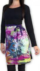 Robe courte à manches longues Imprimée et Colorée Lavandi 274328