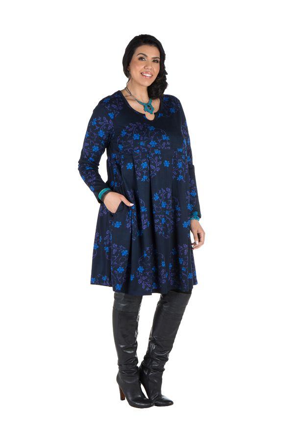 Robe courte à poche et motifs colorés Huà 301163