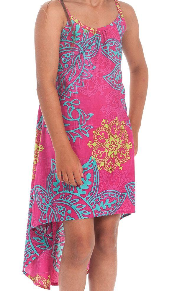 Robe courte asymétrique pour enfant idéale Cérémonie rose Rika 280580
