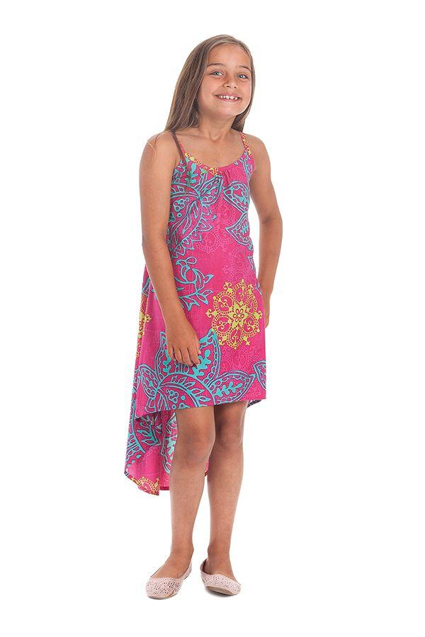 Robe courte asymétrique pour enfant idéale Cérémonie rose Rika 280581