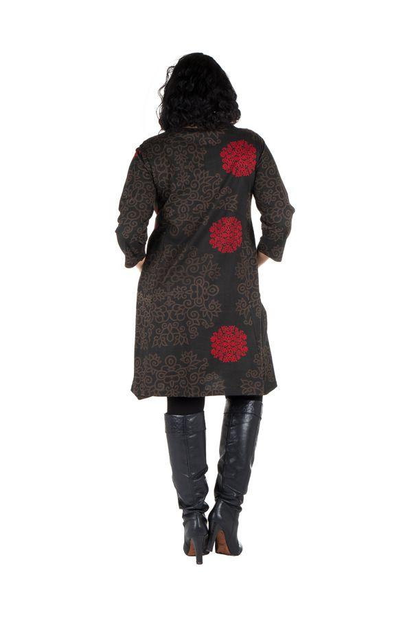 Robe courte automne marron, rouge, et noire Weii 301362