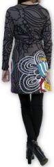Robe courte col V Ethnique et Colorée Tamari Gris 274522
