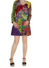 Robe courte color�e � manches longues Marion 267352