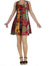 Robe courte colorée style hippie Gwen 267601