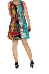 Robe courte colorée style hippie Gwen 267602