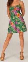 Robe courte d'été à bretelles Originale et Colorée Tropique 279622
