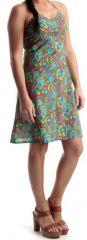 Robe courte d'été à dos nu Colorée et Imprimée Fiony 279628