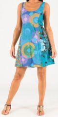 Robe courte d'été à larges bretelles Originale et Colorée Astrid 279251