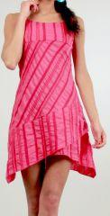 Robe courte d'�t� Asym�trique et Ethnique Ibizza Rose 277034