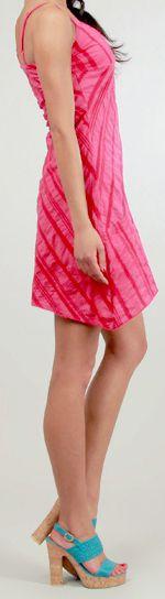 Robe courte d'été Asymétrique et Ethnique Ibizza Rose 277037