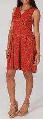 Robe courte d'été colorée en stretch Magalou 5 271753