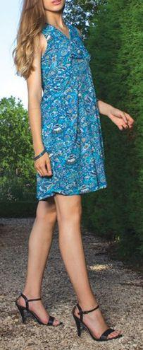 Robe courte d'été colorée en stretch Magalou 6 271754
