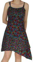 Robe courte d'été Colorée et Asymétrique Katmandou Noire 279575