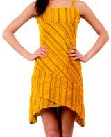 Robe courte d'�t� Ethnique et Asym�trique Ibizza Orange 277041