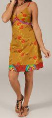 Robe courte d'été Pas Chère et Originale Tissaya Ocre 279544