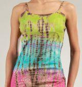 Robe courte d'été Tie and Dye Originale et Colorée Branda Verte 276970