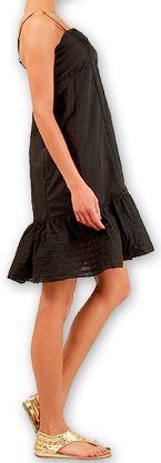 robe courte d ete tres agreable ethnique et chic dianna noire. Black Bedroom Furniture Sets. Home Design Ideas