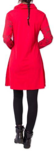 Robe courte d'hiver Colorée et Originale Mouluya Rouge 275736