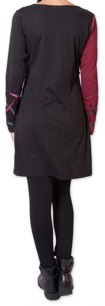 Robe courte d'hiver Ethnique et Originale Nadyme Noire 275872