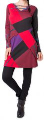 Robe courte d'hiver Ethnique et Originale Nadyme Noire 275873