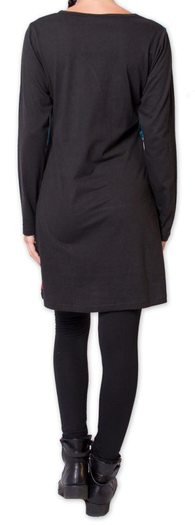 Robe courte d'hiver Originale et Colorée Makenzie Noire 275840