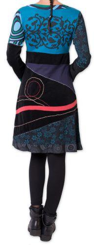 Robe courte d'hiver Originale et Ethnique Fermond Bleue 275728