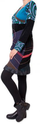 Robe courte d'hiver Originale et Ethnique Fermond Bleue 275729
