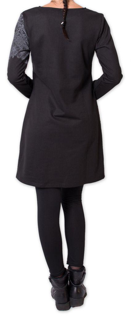 Robe courte d'hiver Originale et Ethnique Maronie Noire 275864