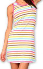 Robe courte de plage Originale et Colorée Dallia Blanche 276994