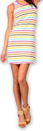 Robe courte de plage Originale et Colorée Dallia Blanche 276995