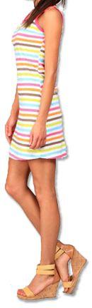 Robe courte de plage Originale et Colorée Dallia Blanche 276996
