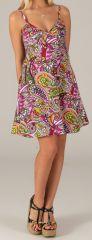 Robe courte de Plage Originale et Colorée Grazia Baltiks Roses 279540