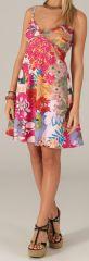 Robe courte de Plage Originale et Colorée Grazia Rose 279616