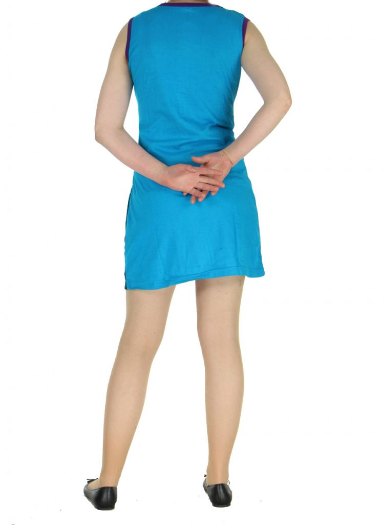 Robe courte du Népal bleue Adelma 268426